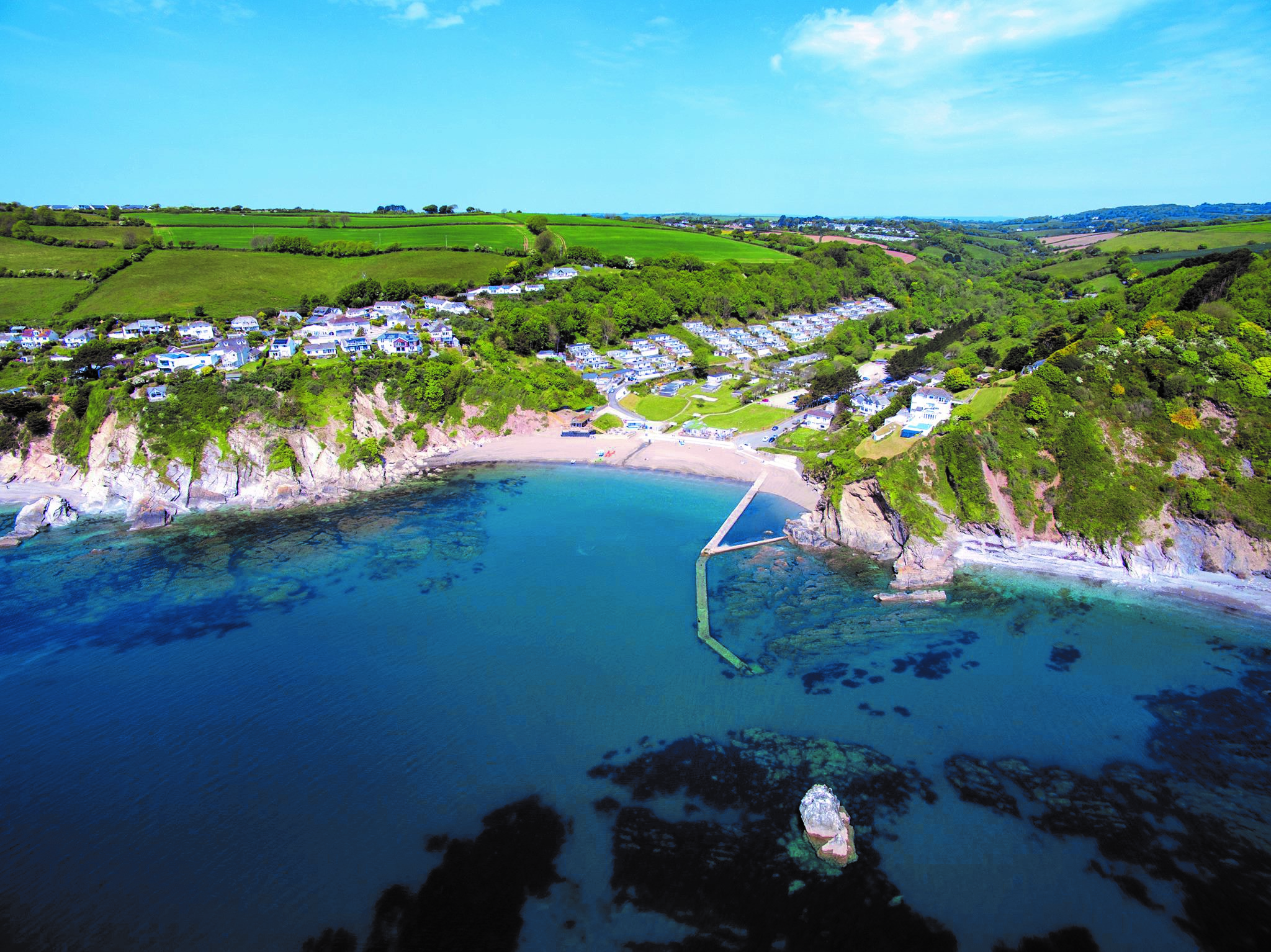 Millendreath Beach Resort near Looe, recently acquired by Valley Resorts